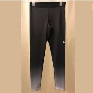 NIKE PRO Women's Hyperwarm Ombré Tights Size L